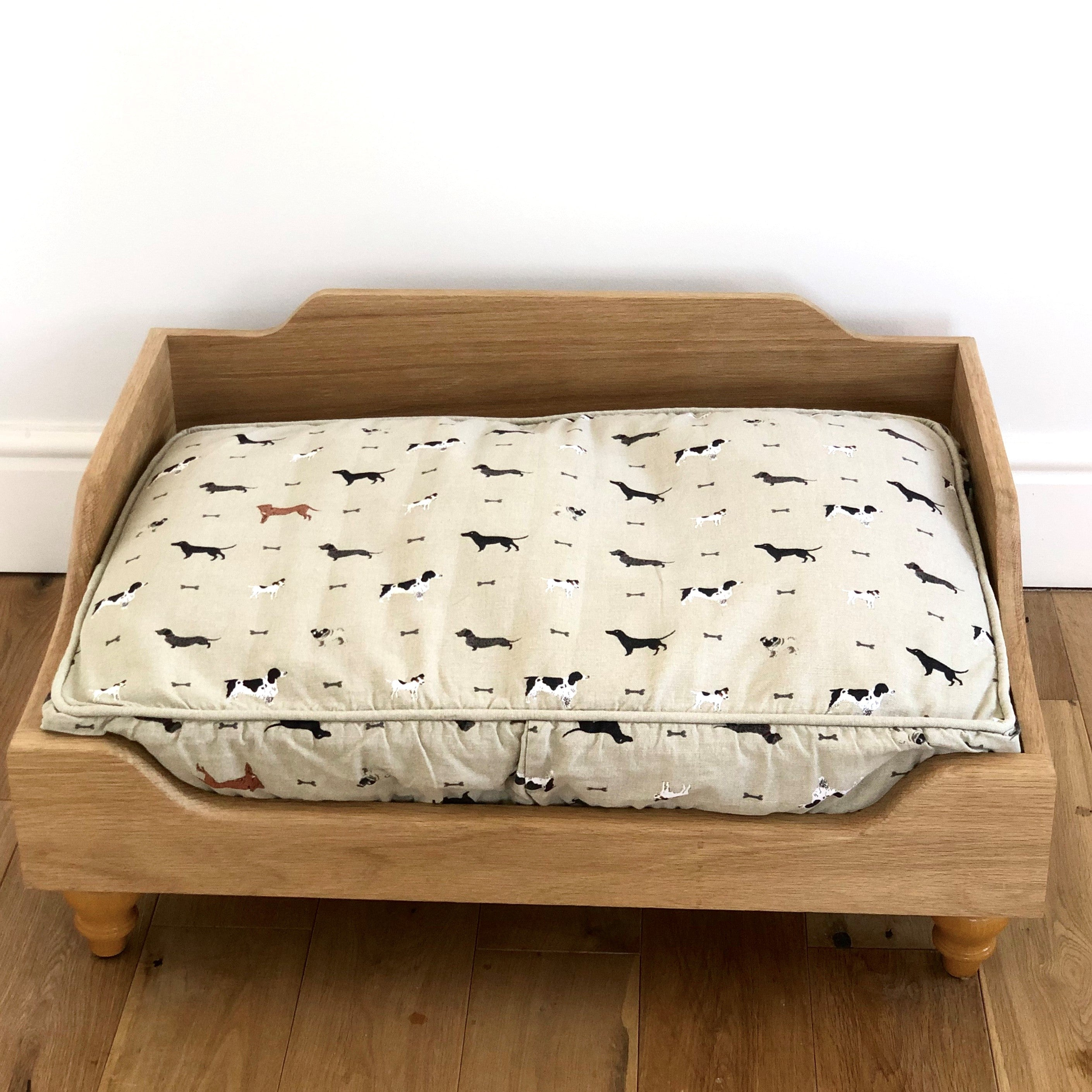 Handmade Raised Wooden Dog Bed - R&M Woodworking