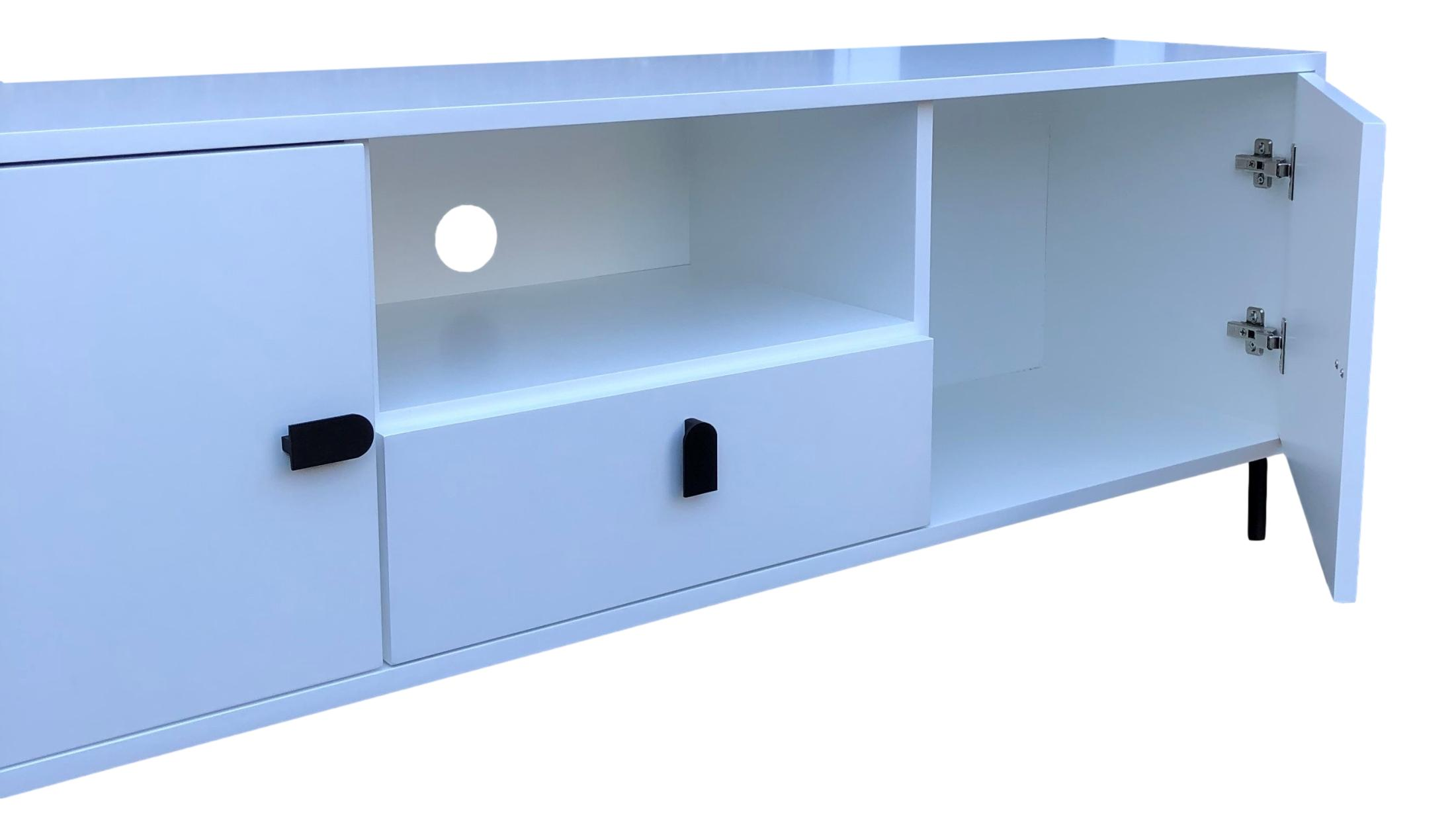 Contemporary Customisable Matt White TV Unit - R&M Woodworking