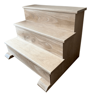 Solid Oak Wooden Steps - R&M Woodworking
