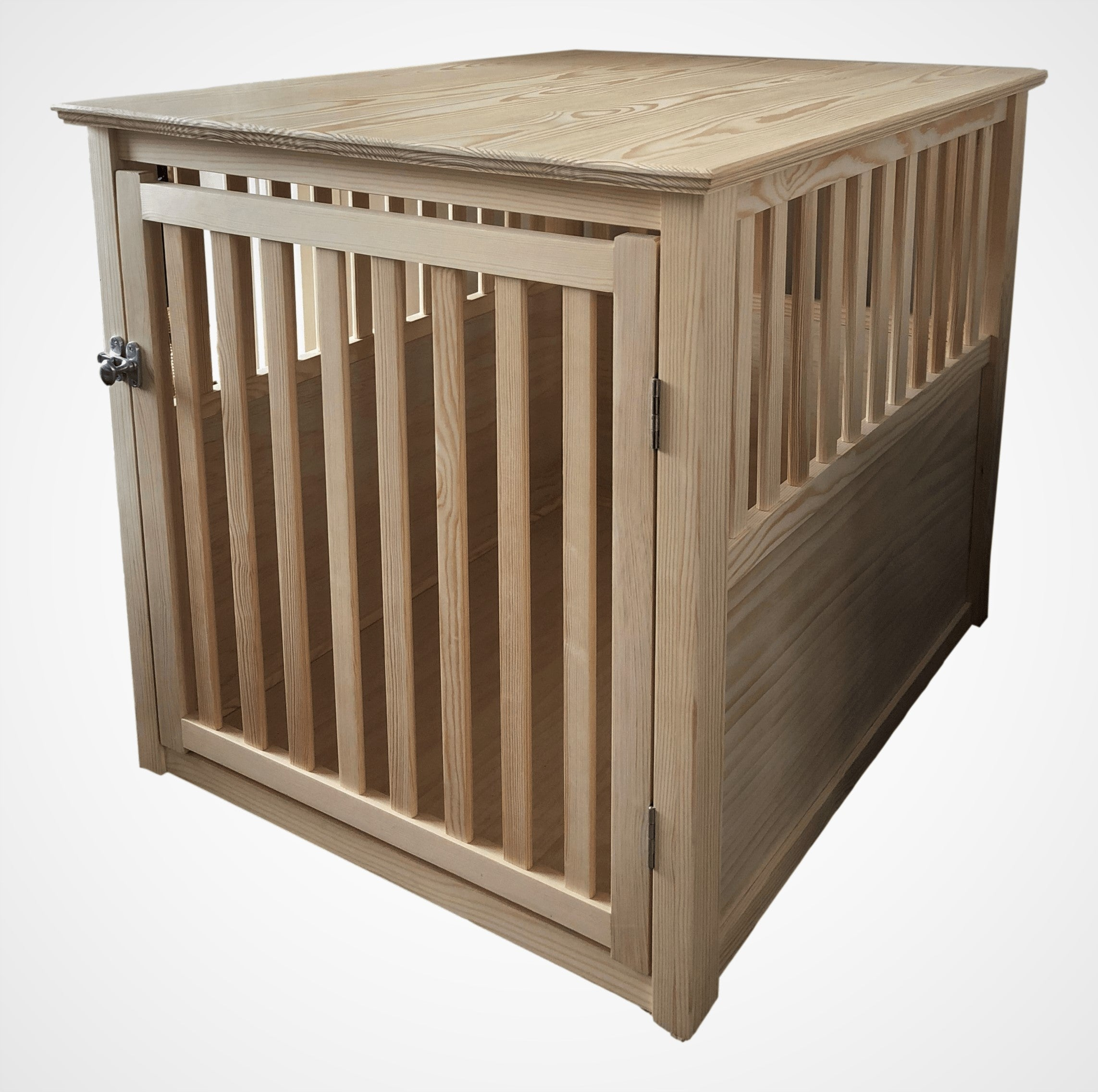 Solid Pine Wooden Dog Crate - R&M Woodworking