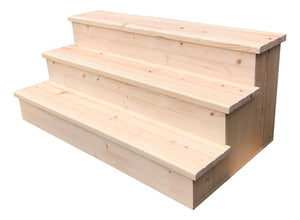 Handmade Wooden Steps - R&M Woodworking