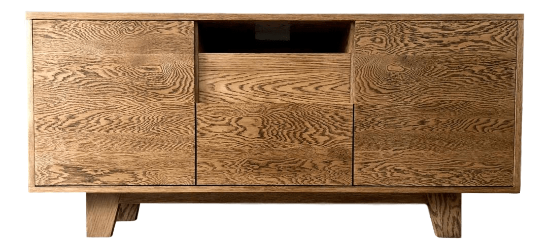 Bespoke Solid Oak TV Unit - R&M Woodworking