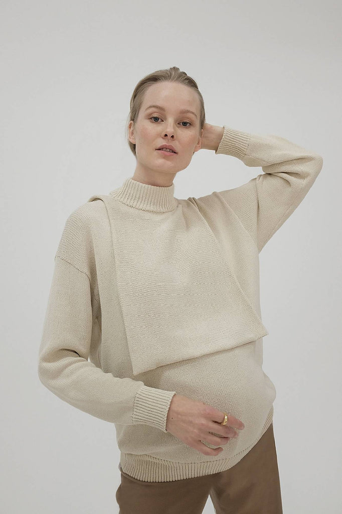 Iya Knit Creme With Extra Neck