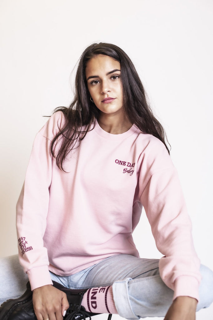ONE DAY Sweater Ladies, Rosa