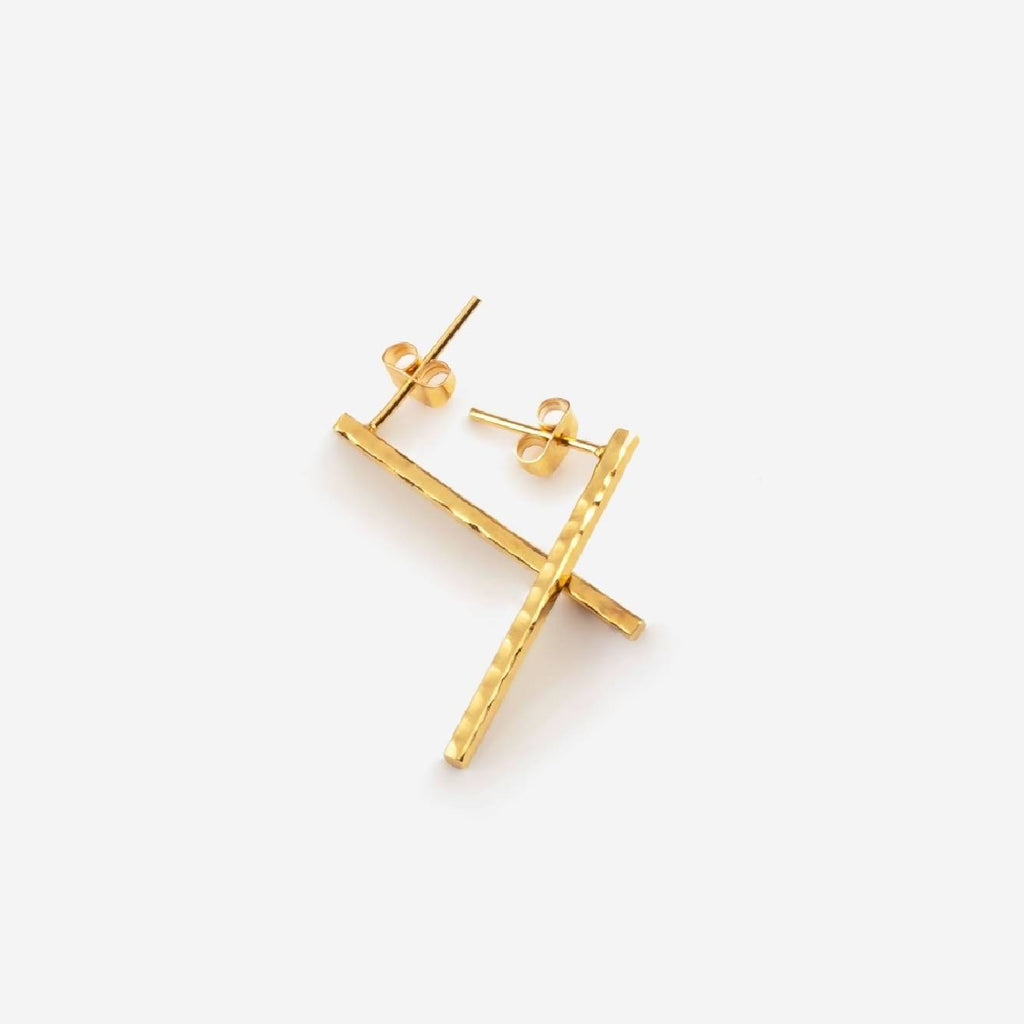 MARIBEL Gold Earring Hammered