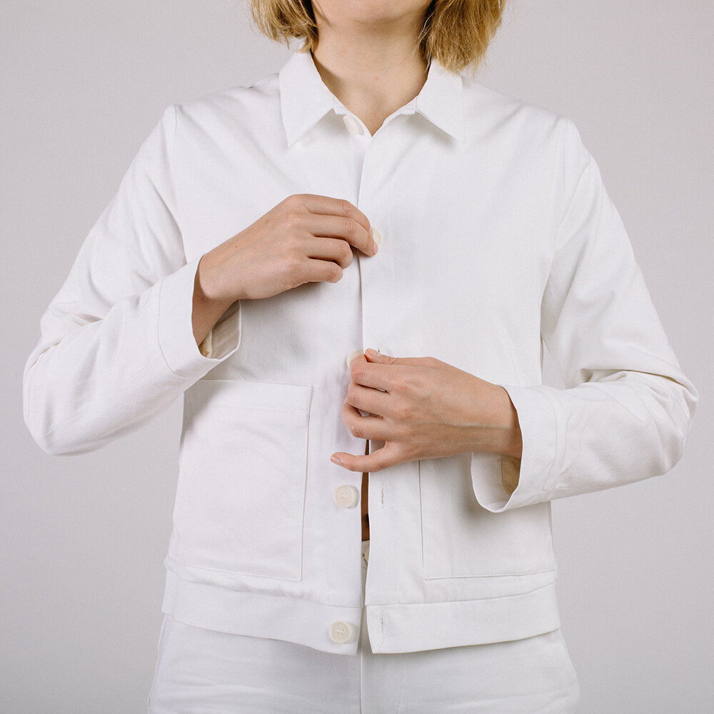 Workwear jacket - soft white / long version