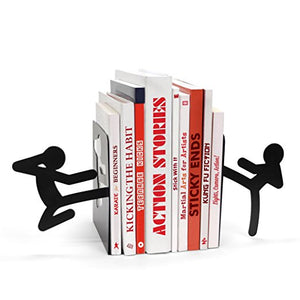 Martial Arts Stick Man Book Ends