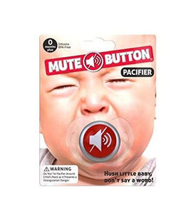 Baby Pacifier Mute Button Funny Baby shower gift