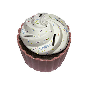 Kids Cupcake Money Bank - Save invest spend categories