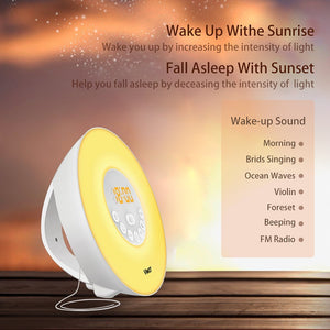 Wake Up Light - Increasing intensity and natural outdoor sounds