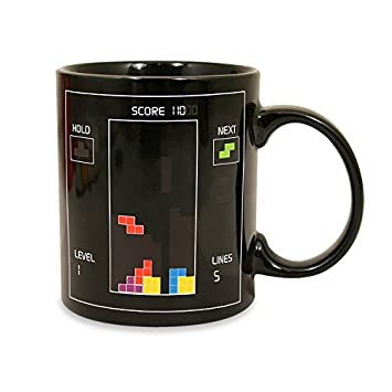 tetris themed heat changing coffee cup.