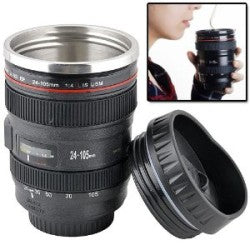 Canon camera lens coffee mug
