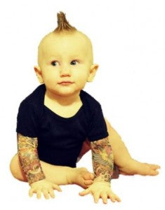 baby tattoo sleeves onesie
