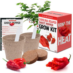 carolina reaper and ghost pepper plants growing kit on amazon.