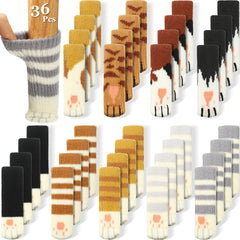 36 piece set of different cat paw styles for chair and table legs to protect your floor.