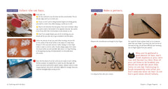 sample page from inside the knitting with craft hair book on amazon.