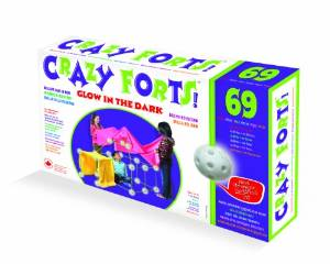 crazy forts glow in the dark fort kit