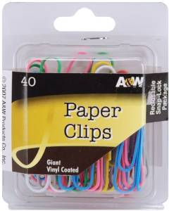 giant paperclips assorted colors pack