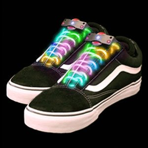 multicolor led shoe laces