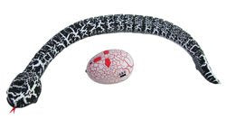 rechargeable infrared speckled remote control snake with egg shaped remote control