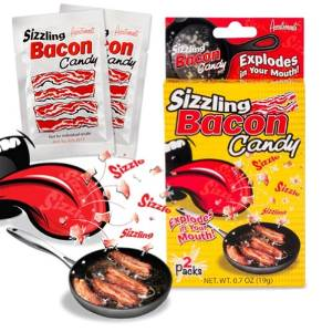 sizzling bacon exploding candy
