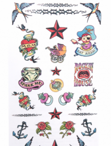 temporary baby tattoos close up package
