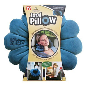 blue total pillow packaging