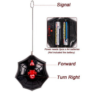 remote control showing forward and right turn for wolf spider rc toy.