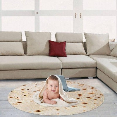 Large Fleece Burrito Blanket for the Whole Family