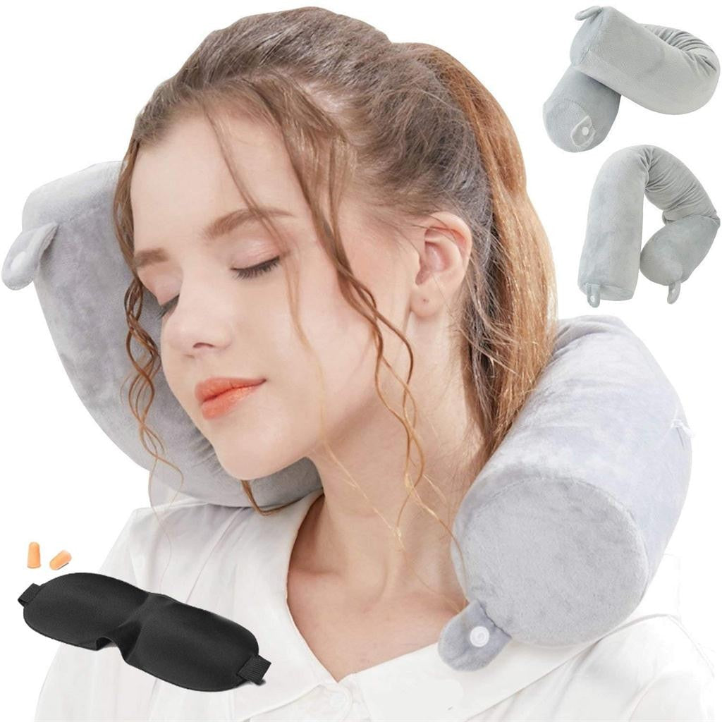 Twisting Neck Pillow for Travel - Great Alternative to the Total Pillow - No More Neck Pain During Travel
