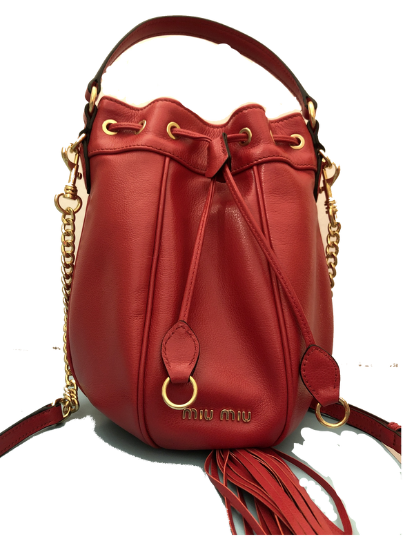 Miu Miu Glacé Calf Red