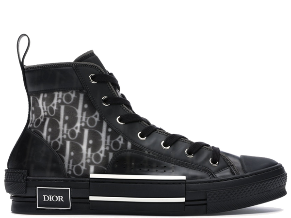 Dior B23 High Top Canvas Oblique Black