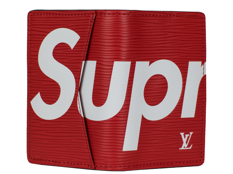Louis Vuitton x Supreme Pocket Organizer Epi Red