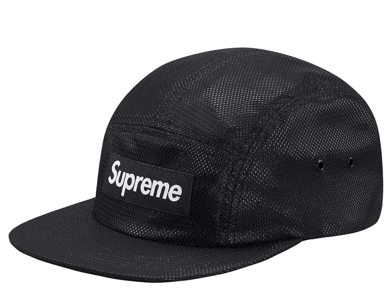Supreme Bonded Mesh Camp Cap Black