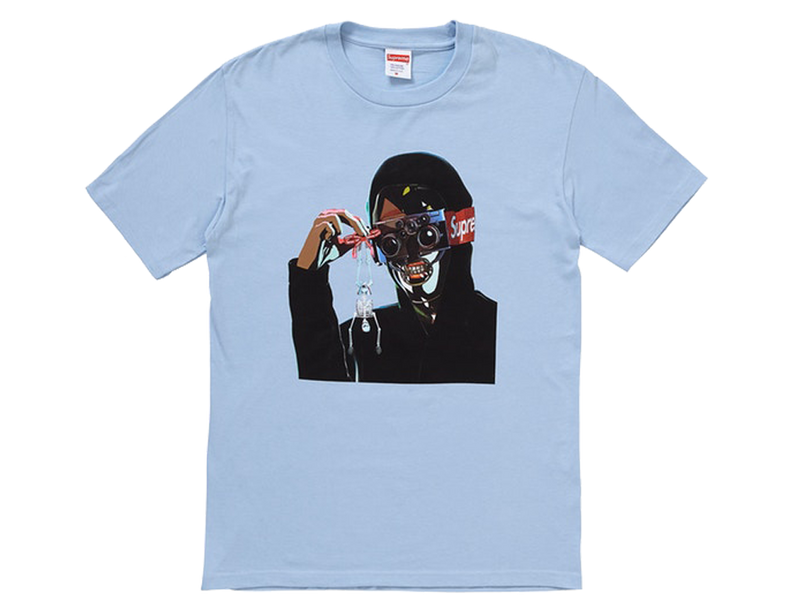 Supreme Creeper Tee Light Blue