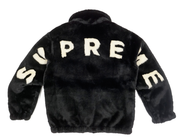 Supreme Faux Fur Bomber Jacket Black