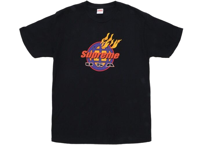 Supreme Fire Tee Black