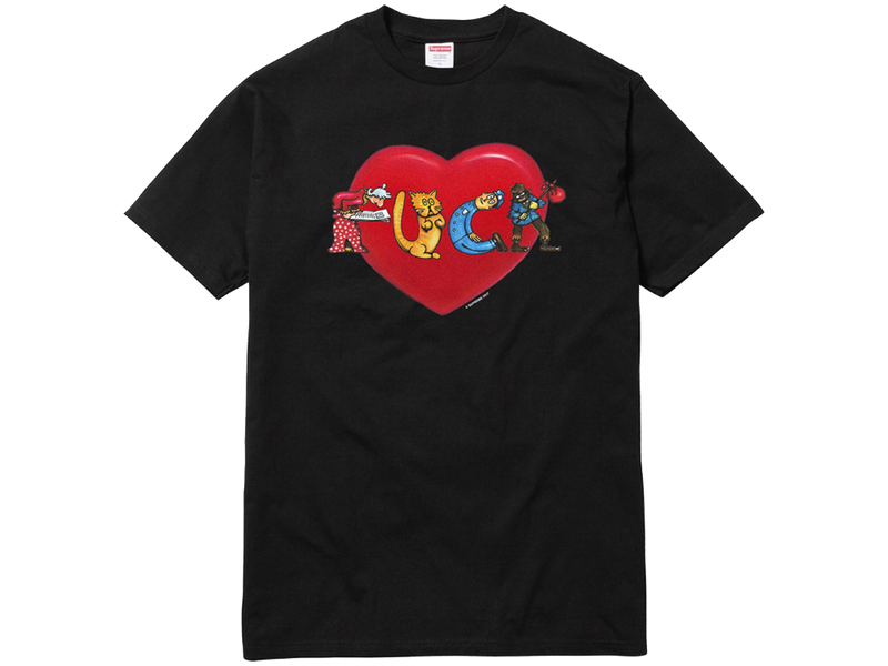 Supreme Fuck Love Tee Black