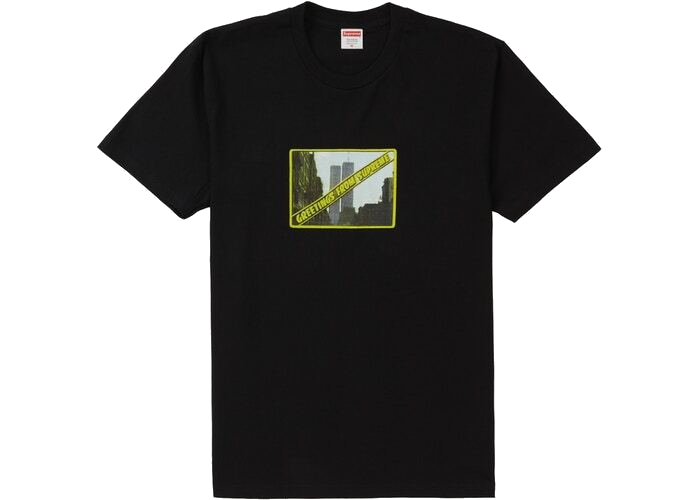 Supreme Greetings Tee Black