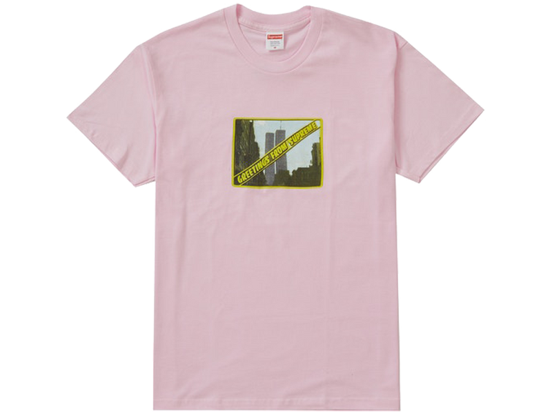 Supreme Greetings Tee Light Pink