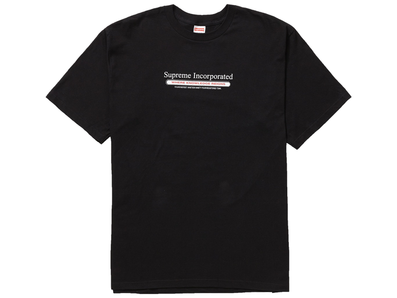 Supreme Inc. Tee Black