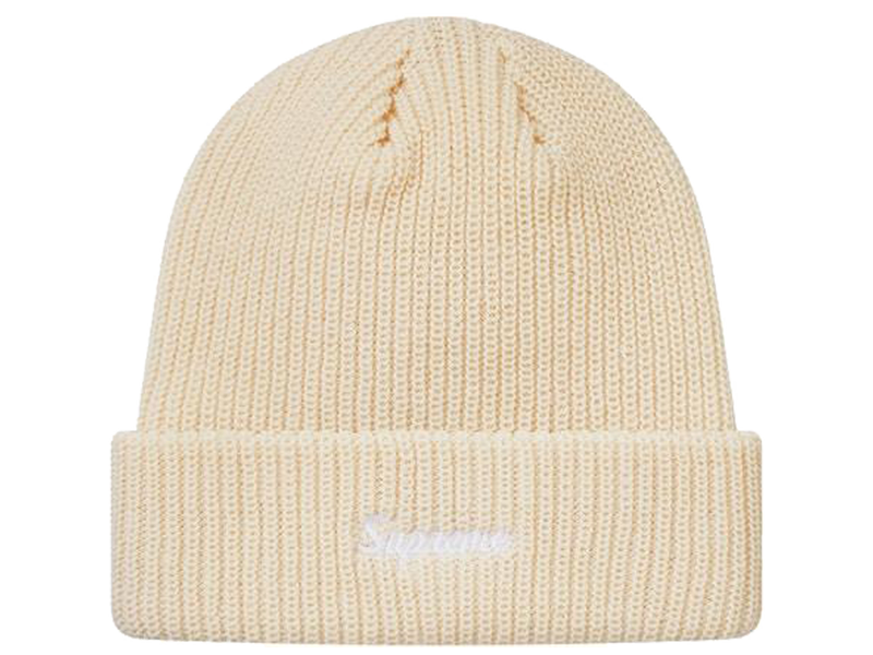 Supreme Loose Gauge Beanie (FW18) Natural