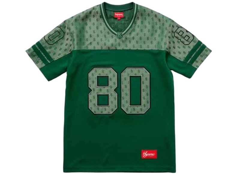 Supreme Monogram Football Jersey Dark Green