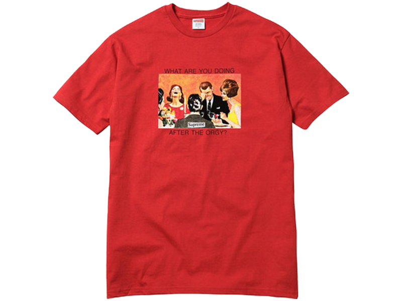 Supreme Orgy Tee Red