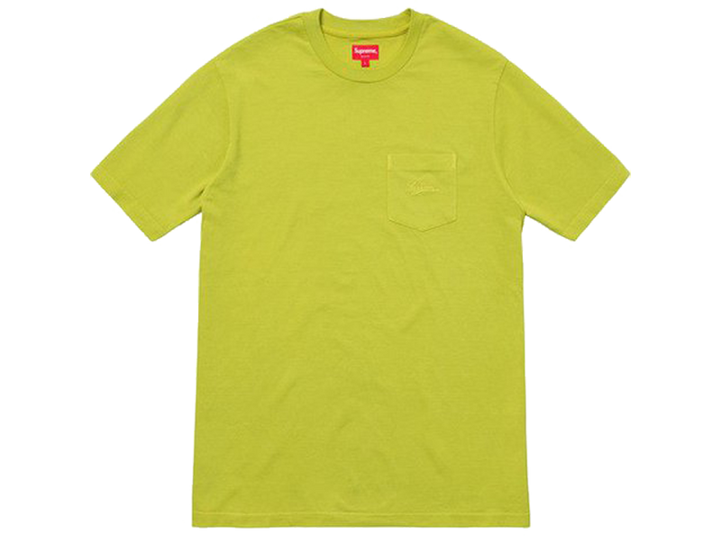 Supreme Overdyed Pocket Tee Acid Green