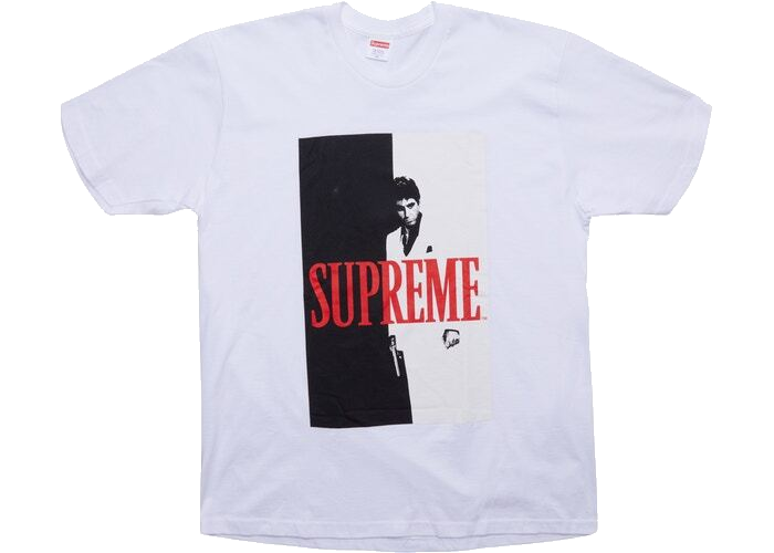 Supreme Scarface Split Tee White