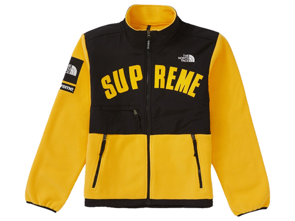 Supreme The North Face Arc Logo Denali Fleece Jacket Yellow