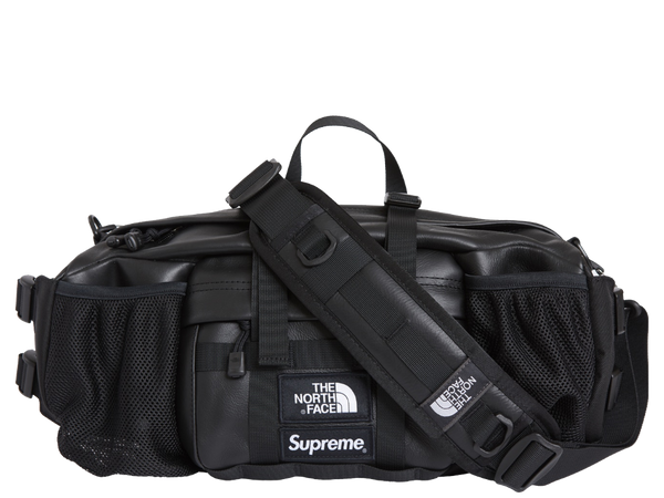 Supreme The North Face Leather Mountain Waist Bag Black