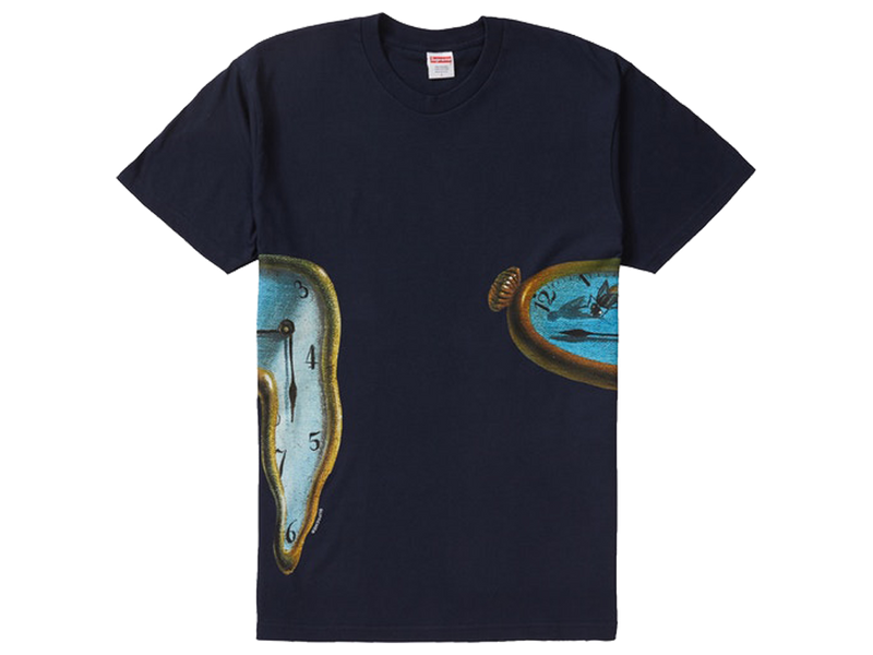 Supreme The Persistence Of Memory Tee Navy