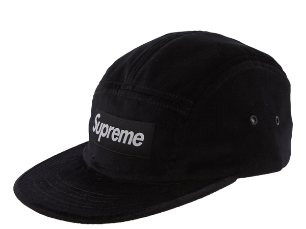 Supreme Velvet Camp Cap Black